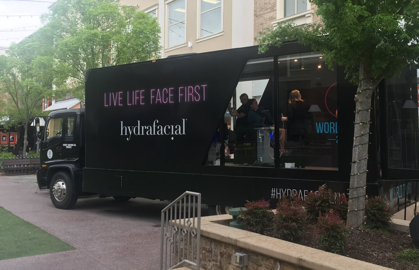 The HydraFacial World Tour truck