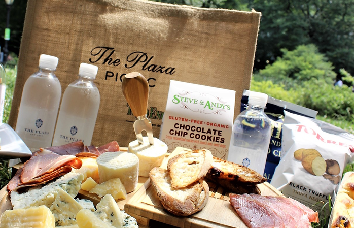 The Plaza Todd English picnic basket and offerings